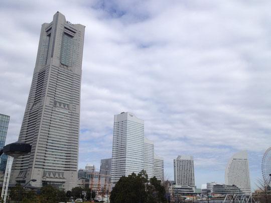 横浜に行ったぞというのをわかりやすく表現してみました。