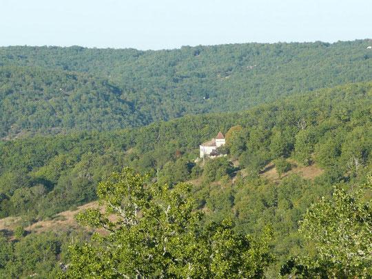paysage de la propriété de  Soulié , en plein causse