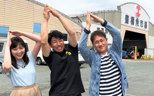 清水アナ・市場の小林・神無月さん