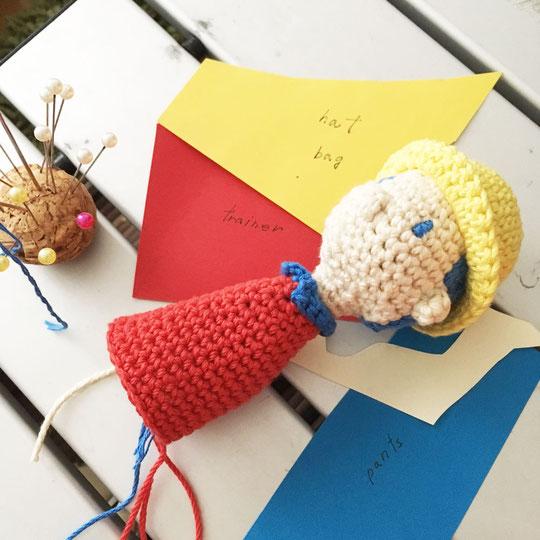 北海道の手編み作家、こまいて の あみぐるみ メイキング