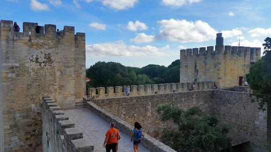 Castelo São Jorge ,  Mauer, Mualha