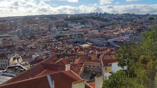 Castelo São Jorge , Lissabon, Portugal, Lisboa, Vista