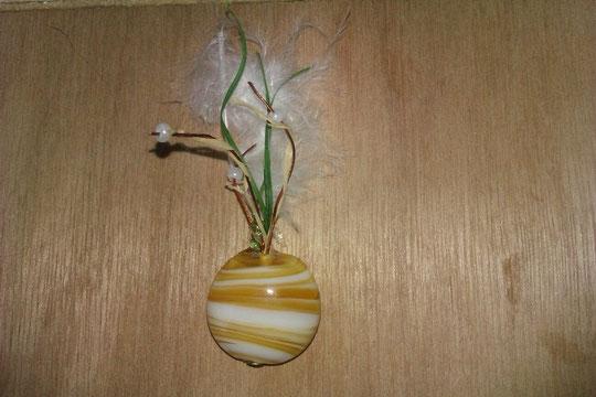 vase  (perle et collage personnalisé)