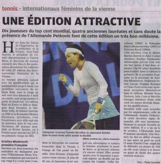 Article Nouvelle République 18-10-2012