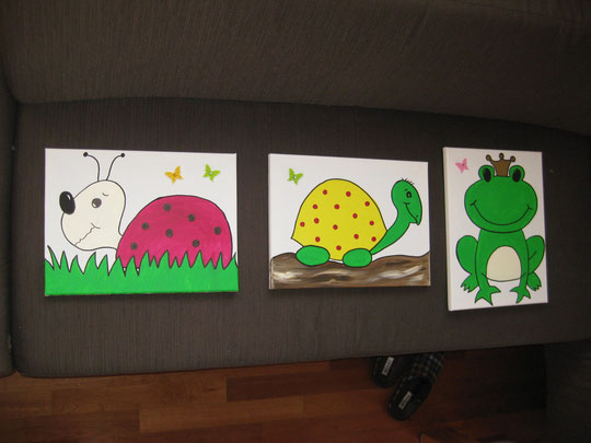 "Acrylbilder ""Kinderzimmer"" - VERKAUFT"