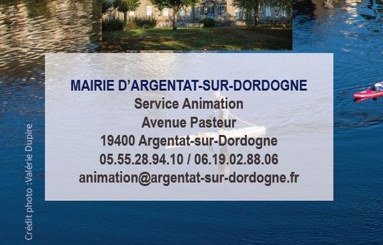 Argentat-sur-Dordogne Animations 2020
