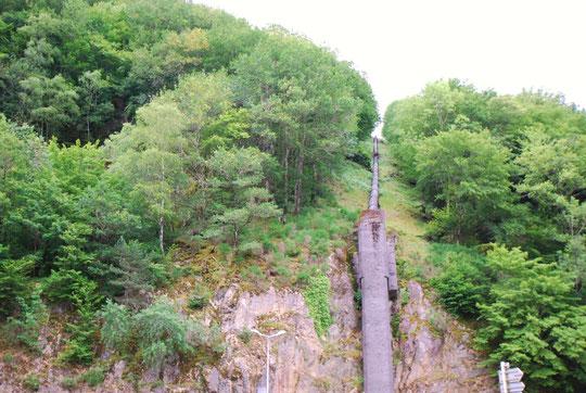 Conduite du barrage de la Glane (Lac de Feyt)