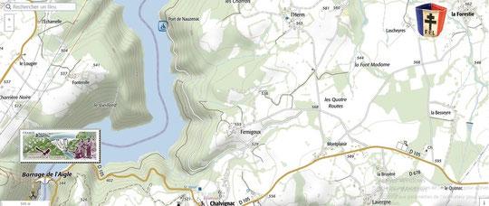 Hameau de La Forestie puis au barrage de l'Aigle,  les 12 et 13 juillet 1944