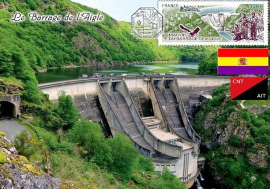 Résistance Barrage de l'Aigle page des Républicains Espagnols