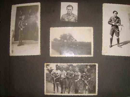 la page de l'album photo comme mon papa René les avaient classées avec les lieux.