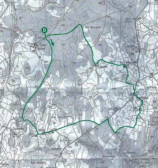 Carte 33 Promenades en Xaintrie