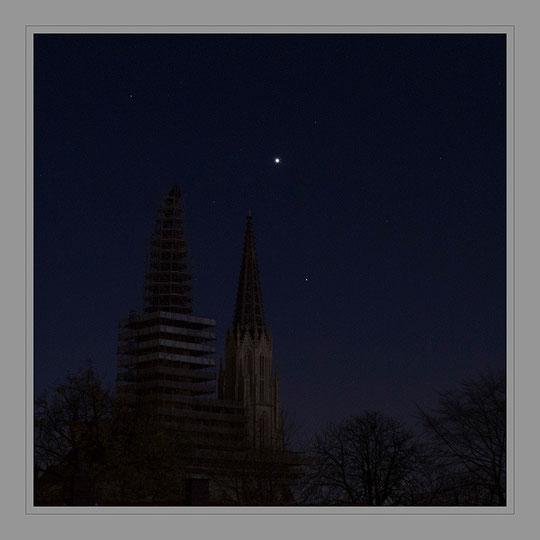Die Venus über Maria zur Wiese in Soest am 27. November um 5.54 Uhr
