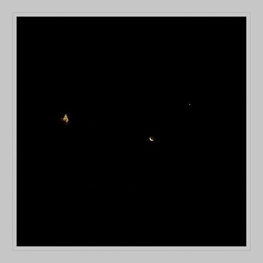 Fensterblick am 8. Dezember, um 6.41 Uhr.