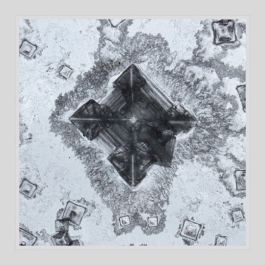der zentrale Kristall noch etwas näher