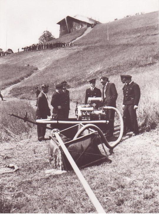 Gründungsfeier und Einweihung der Motorpumpe am 4. Juni 1961