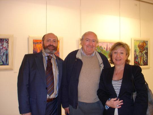 Acompañado del maestro Vicente Gallego y Lola Directora de la  Biblioteca de La Rioja.