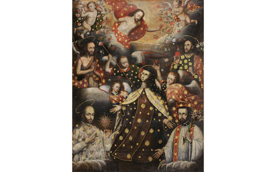 Transverberación de Santa Teresa, anónimo,Museo de Arte Virreinal del Monasterio de san José y Santa Teresa, Arequipa, Perú