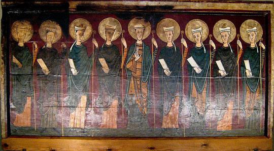 Altar de Tavernoles, SXII, espléndido frontal de apóstoles procedente de Seo de Urgel