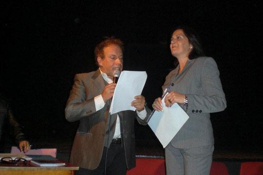 Insieme a Giuseppe Lorin,l'attore che ha declamato la mia poesia