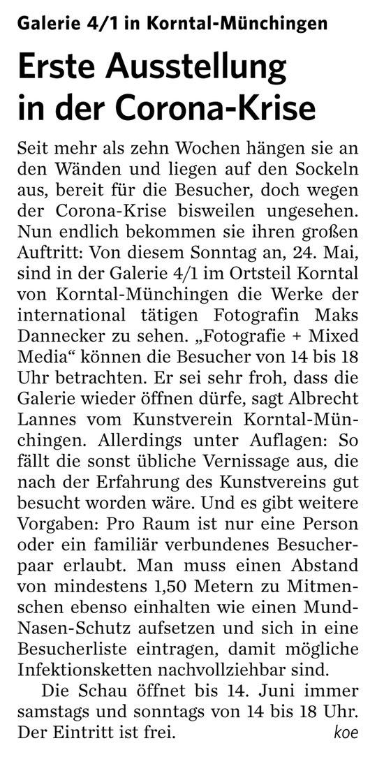 Stuttgarter Zeitung / Strohgäu Zeitung 23.05.2020