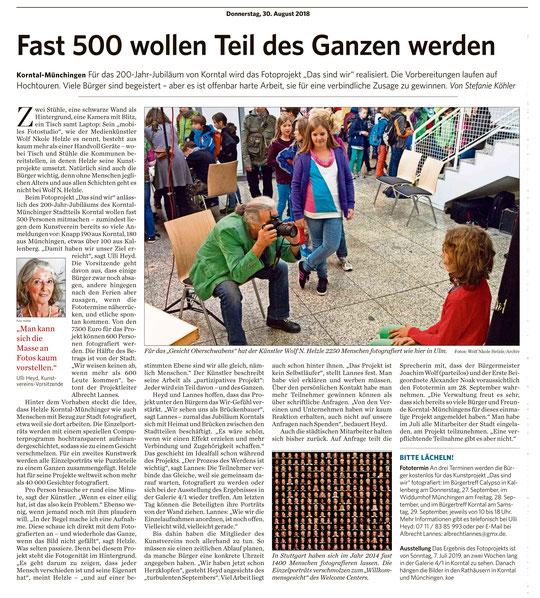 Stuttgarter Zeitung / Strohgäu Extra 30.08.2018