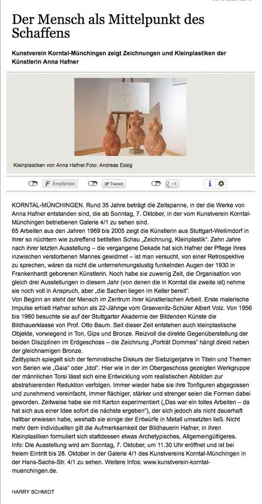 Ludwigsburger Kreiszeitung 08.10.2018