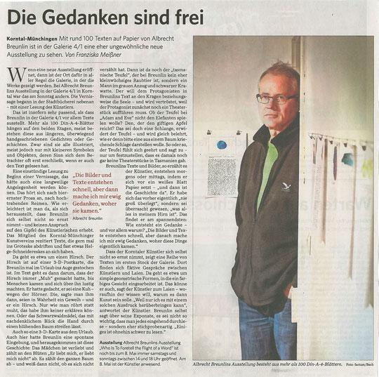 Stuttgarter Zeitung / Strohgäu Extra 18.04.2016