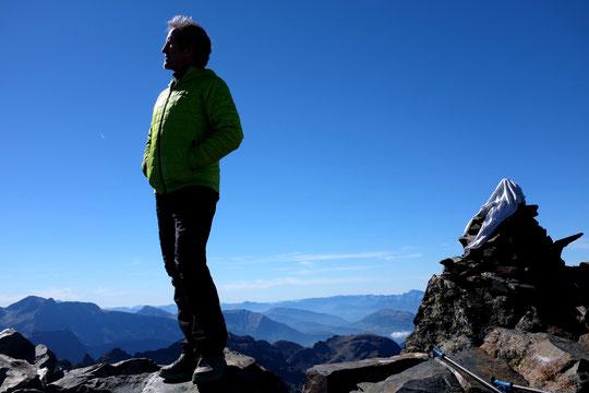 Sommet de la Grande Lance de Domène à 2800m au dessus de Grenoble.