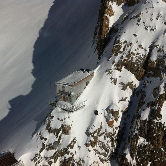 Le refuge ce mercredi 12 février (photo Damien, voir le texte ci dessus)