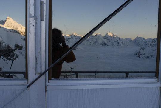 7h ce matin, réveil pas trop désagréable (!) sur la terrasse du Promontoire...