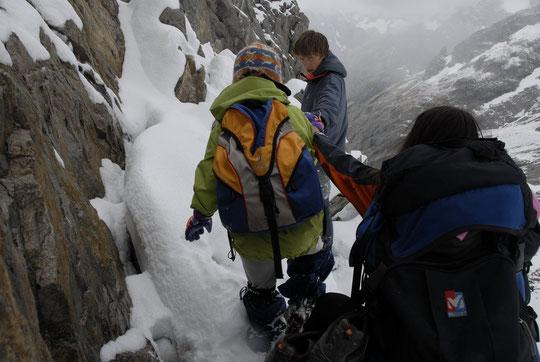 Alpinisme hivernal pour atteindre le refuge ?