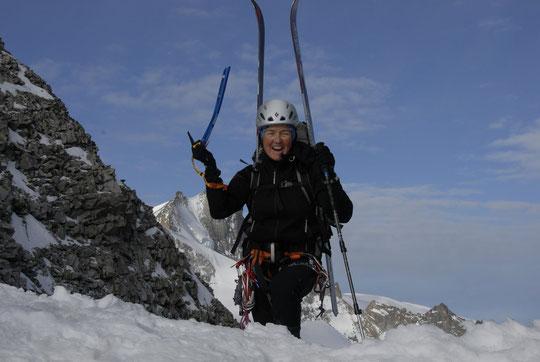 L'arrivée d'une cordée au sommet du Serret du Savon : toujours un très très grand bonheur !