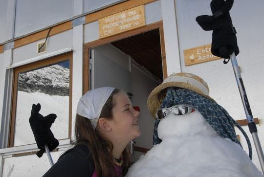 Ce samedi matin, c'est l'été au Promontoire. Mercredi c'était les bonhommes de neige.