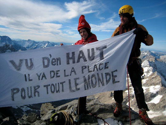 Photo au sommet de la Meije : Leïla Shahshahani/Montagnes Magazine