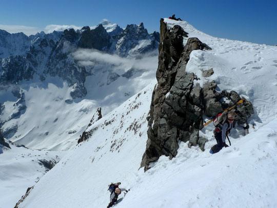 Jonction Pavé-Promontoire : l'arrivée au Col du Pavé (cliquez sur cette photo d' Aurélien).
