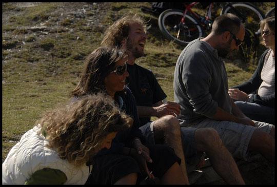 Caro (la Lavey), Brigitte (le Chatelleret), Ben (la Selle), Thierry (la Pra) et Flo (Temple-Ecrins)