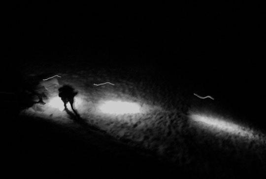Cette nuit, des cordées quittent le refuge...