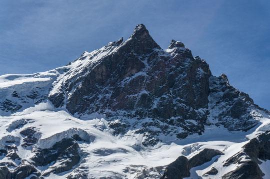 Merci à Pierre Louis pour sa photo des conditions actuelles de la face Nord de la Meije (cliquer pour agrandir).