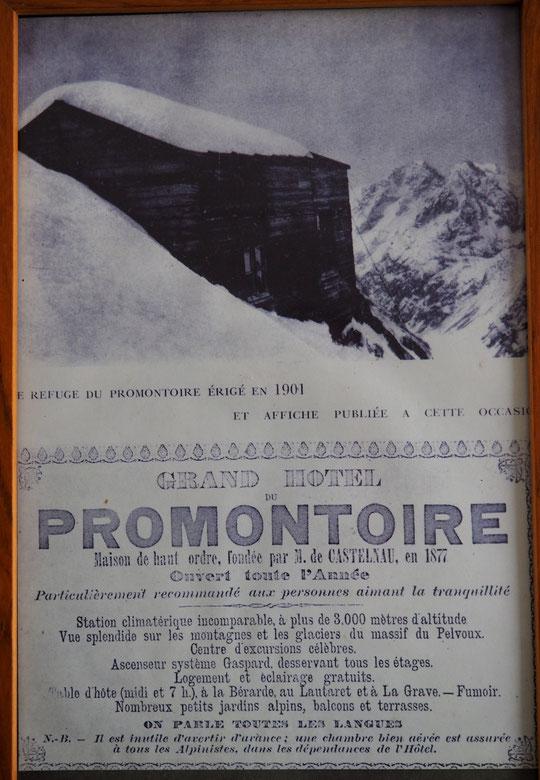 """En 1901, il écrivait """"une chambre bien aérée est assurée à tous les alpinistes"""". En cette nuit du 9 avri 2018,  je confirme !  Chapeau pour votre bel humour, nos chers anciens !"""