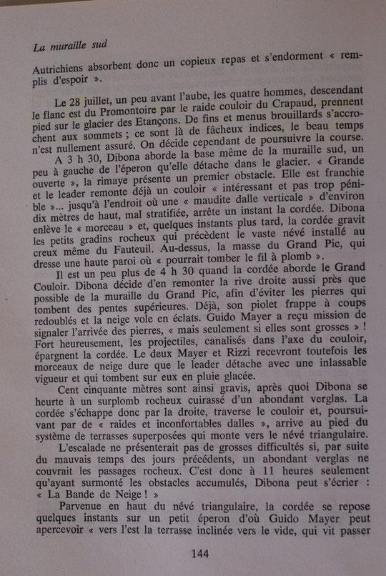 """Extraits de """"La Meije"""" de Henri Isselin."""