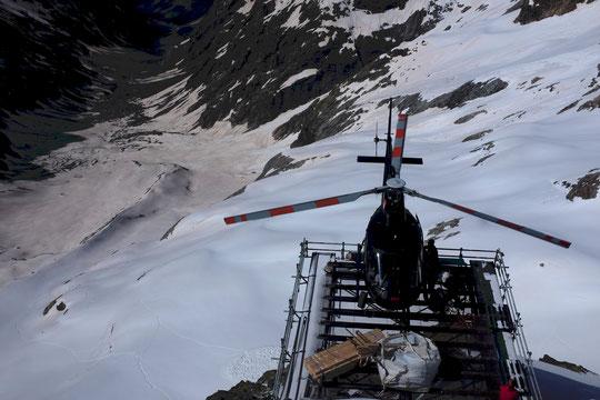 L'enneigement du Vallon des Etançons, jeudi dernier lors de l'héliportage.