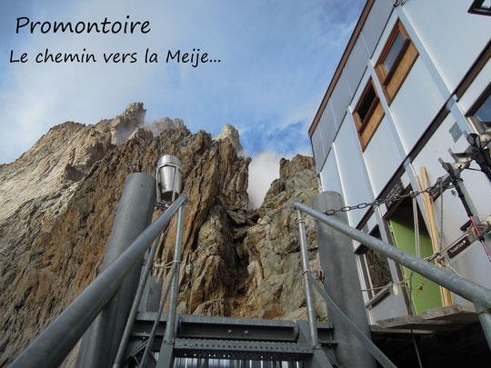 """Un grand merci à Thierry Clavel qui nous a envoyé cette photo prise il y a quelques jours, lors de son passage au Promontoire pour aller faire le """"Z"""" en face Nord"""