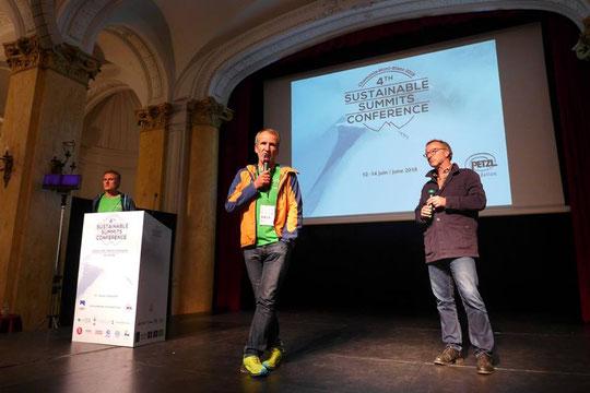 """Moments de débats avec 300 montagnards venus de 16 pays. C'était cette semaine au Majestic de Chamonix pour les """"4th Sustainable Summits Conférence"""". Une belle dynamique est engagée... à suivre !"""
