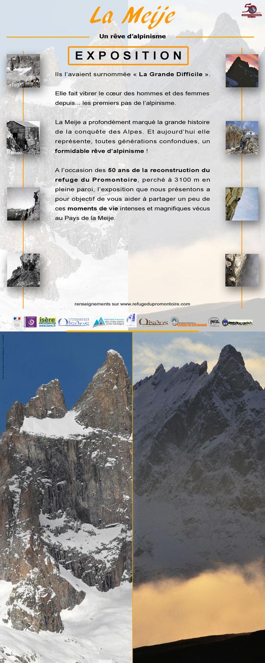 """L'exposition """"La Meije un rêve d'alpinisme"""" sera présentée lors de la soirée du mercredi 5 octobre à Fontaine en Montagne. A découvrir !"""