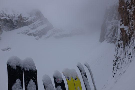 Ce matin, les skis ont eu un peu de mal à partir...