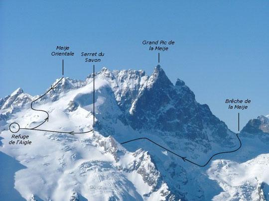 Tour de la Meije, Face N - Grand Pic de la Meije (Ecrins) - Par Jeroen