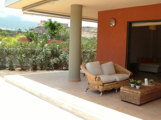 Luxusapartment zum vermieten für Langzeit in Puerto de la Cruz auf Teneriffa mit Terrasse und Pool