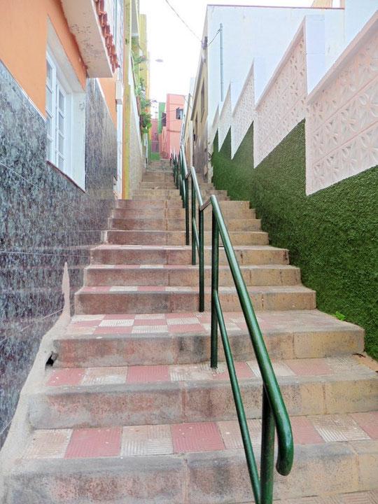 Treppen die nach La Longuera führen