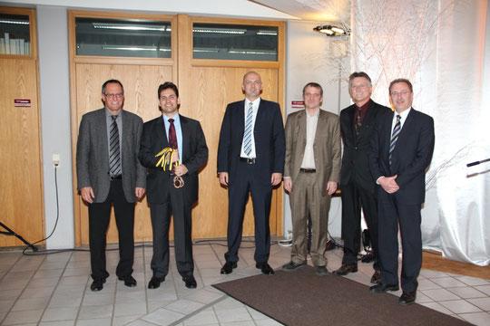 Die 1. Mannschaft und Bürgermeister Heiler(MdL)