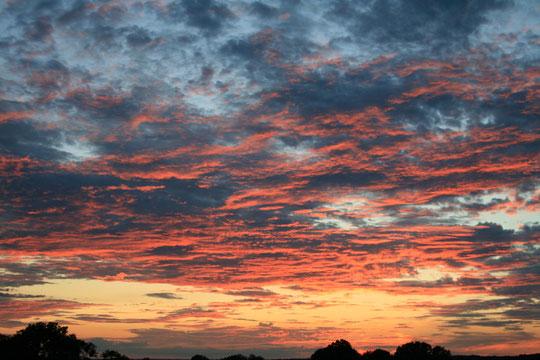 coucher de soleil vu des gites